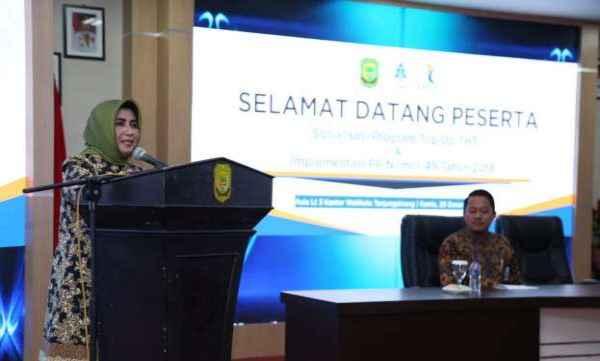 Rahma Wakil Walikota Tanjungpinang memberikan sambutan. Foto: Ist